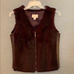 Cache Fur/Leather Vest - size S